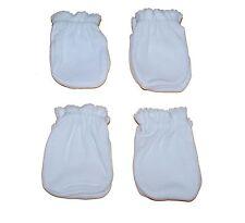 4 Pairs Cotton Newborn Baby/infant anti-scratch Mittens Gloves - White