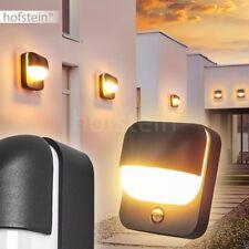 LED Aplique exterior detector de movimiento negro jardín casa patio camino