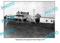 OLD 6x4 PHOTO MURGON QUEENSLAND VIEW OF ROYAL HOTEL & GORE STREET c1900
