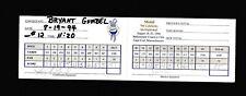 Bryant Gumbel & John Marin Celebrity Golf Scorecard 94 Mobil Invitational JSA