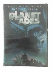 Planet Of The Apes (DVD, 2001, 2-Disc Special Edition) Mark Wahlberg NEW Sealed