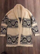 1970s Cowichan Style Aztecs Geometric Pattern Sweater Men's S Or Woman's Medium