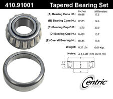 Wheel Bearing and Race Set-C-TEK Bearings Centric 410.91001E