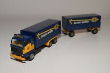 BB 1:50 TEKNO VOLVO F88 F89 TRUCK TRAILER ASG TRANSPORT LOW CANOPY 1ST ISS. RARE