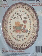 Stitchables Dimensions Counted CROSS STITCH KIT Special Baby Birth Record