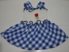 Vêtement enfant ancienne robe à smocks été fille BAMBINO 2 ans vintage 70'S