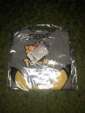 BNWT In Bag NEXT Boys Grey Pokemon Pikachu Tshirt  Aged 2-3 Years