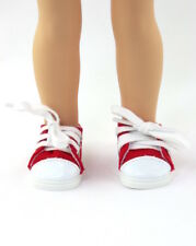 """Red Sneakers Fits Wellie Wishers 14.5"""" American Girl Clothes Shoes"""