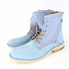 NOBRAND Stiefelette Boots EMIL Wildleder Schuhe Damen Blau NP 109 NEU