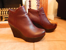 Jenny Fairy Women's Dark Red High Boots W16AW478-1 – Size UK 6.5 - NEW