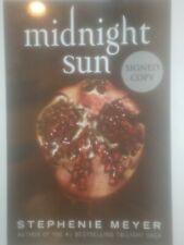 midnight sun signed book autographed stephenie meyer hc 1st hardcover twilight