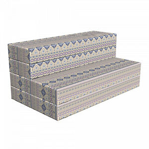 Ambesonne Ethnic HR Foam Portable Mattress & Fabric Cover in 3 Sizes