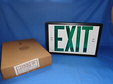 """NEW GREEN SINGLE FACE EXIT SIGN w/ CANOPY KIT 6"""" letters NUTONE STERLING 6710-04"""
