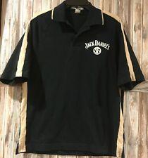 Jack Daniels Whiskey Racing Polo Shirt Black Mens Medium
