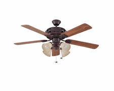 """Craftmade Grandeur-L  Classic 52"""" 5 Blade Indoor Ceiling Fan - Blades and Light"""