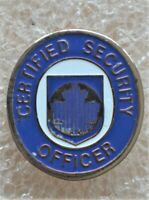 CANADIAN CERTIFIED SECURITY OFFICER VINTAGE Taiwan PIN PINBACK ÉPINGLETTE
