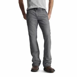 Ariat 10017226 Men's Gray FR M4 Low Rise Workhorse Boot Cut Pant Jeans