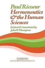Hermeneutics and the Human Sciences: Essays on Language, Action and Interpretati