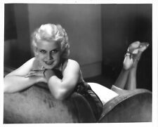 *JEAN HARLOW (c.1930's) Vintage Copy Publicity Photograph Playful Pose on Couch