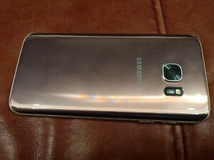 Samsung GALAXY S7 Mobile Phone In Pink. On O2.