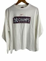 New York Yankees American League Champs Nike Mens T-Shirt White Vintage 2001 L