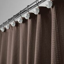 """mDesign Waffle Weave Fabric Shower Curtain - 72"""" Long - Chocolate Brown"""