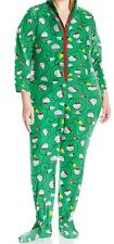 Hello Kitty  Green Women's Plus Size Ugly Holiday Hoodie Jumper 1X Runs Small