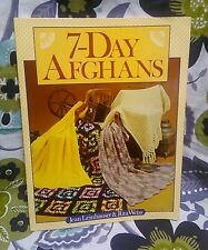 7-Day Afghans Jean Leinhauser Rita Weiss Paperback Quilts Sewing Crochet Knits