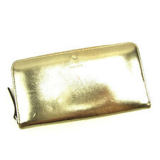 Kate Spade Wallet Purse Long Wallet Gold Pink Woman Authentic Used D1455