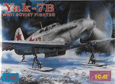 Soviet YaK-7B WW II Fighter 1/48 Scale ICM 48032 (FREE SHIPPING)