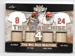 Morgan Rose Bench Perez 2021 Leaf Lumber The Franchise 4 Big Red Machine 25/25