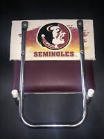 Vintage FSU Florida State Seminoles Stadium Bleacher Seat Chairs Cushion Folds