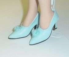 "Doll Shoes, Monique Gold 48mm LIGHT BLUE  ""My Fair Lady"" for Tyler, Sybarite"
