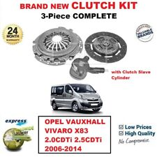 FOR OPEL VAUXHALL VIVARO X83 2.0CDTi 2.5CDTi 2006-2014 3-PC CLUTCH KIT with CSC