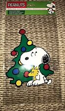 Peanuts Snoopy Christmas Tree Window Cling