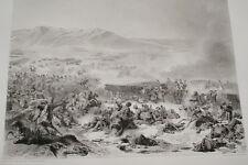 EGYPTE NAPOLEON BATAILLE MONT THABOR GRAVURE 1838 VERSAILLES R1021 IN FOLIO