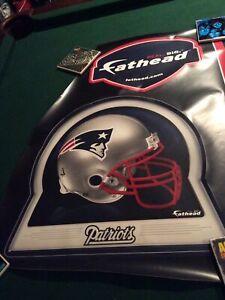 New England Patriots Fathead Logo And Helmet New