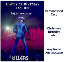THE KILLERS Personalised Concert show Tour Ticket Wallet Card Birthday Christmas