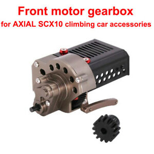 SCX10 CNC Metal Front Motor Gearbox Transmission Box for Axial SCX10 90046 P4I0