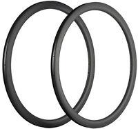 Carbon Fiber Rims 40mm 25mm Width Clincher Bicycle Rims 16/18/20/24/28 Hole 2pcs