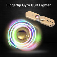 Electric USB Lighter LED light Hand Spinner Lighters Rechargeable Windproof