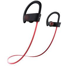 U8 Wireless Bluetooth Headset IPX7 Waterproof Headphones Earphone RED Color