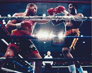 LENNOX LEWIS vs TOMMY MORRISON 8X10 PHOTO BOXING PICTURE