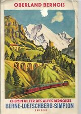 OBERLAND BERNOIS Chemin de fer des Alpes Bernois - Guide illustré + carte - 1920