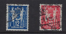 EAST GERMANY(DDR):1950  Postal Workers Union set SG 2-3 used