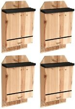 4 Pack Nature's Way Cwh6 Triple Chamber Cedar Bat Houses