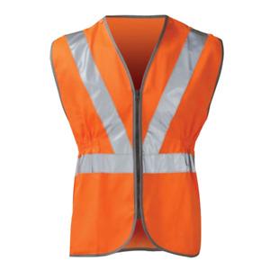 High Visibility Hi Vis Viz Rail Safety Waistcoat GO/RT Zip Vest Jacket New