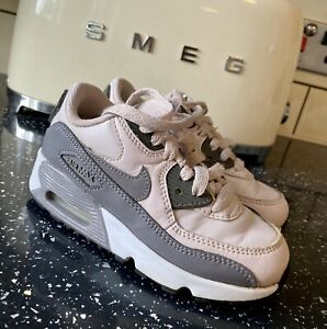 Kids Girls Nike Air Max Grey Pink Trainers Size 10 Infant