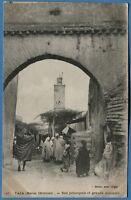 CPA: TAZA (Maroc Oriental) - Rue principale et grande mosquée