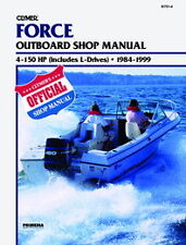 Clymer Force Outboard Shop/Repair Manual, 4-150 HP, 1984-1999 (B751-4)